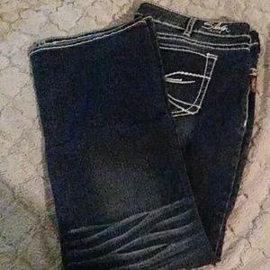 Silver aiko slim bootcut jeans
